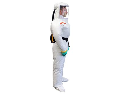 Atemschutzanzug e-breathe Chemical White Outside