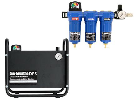 e-breathe Druckluftfilter-Station DFS 3 & DFS 3WH
